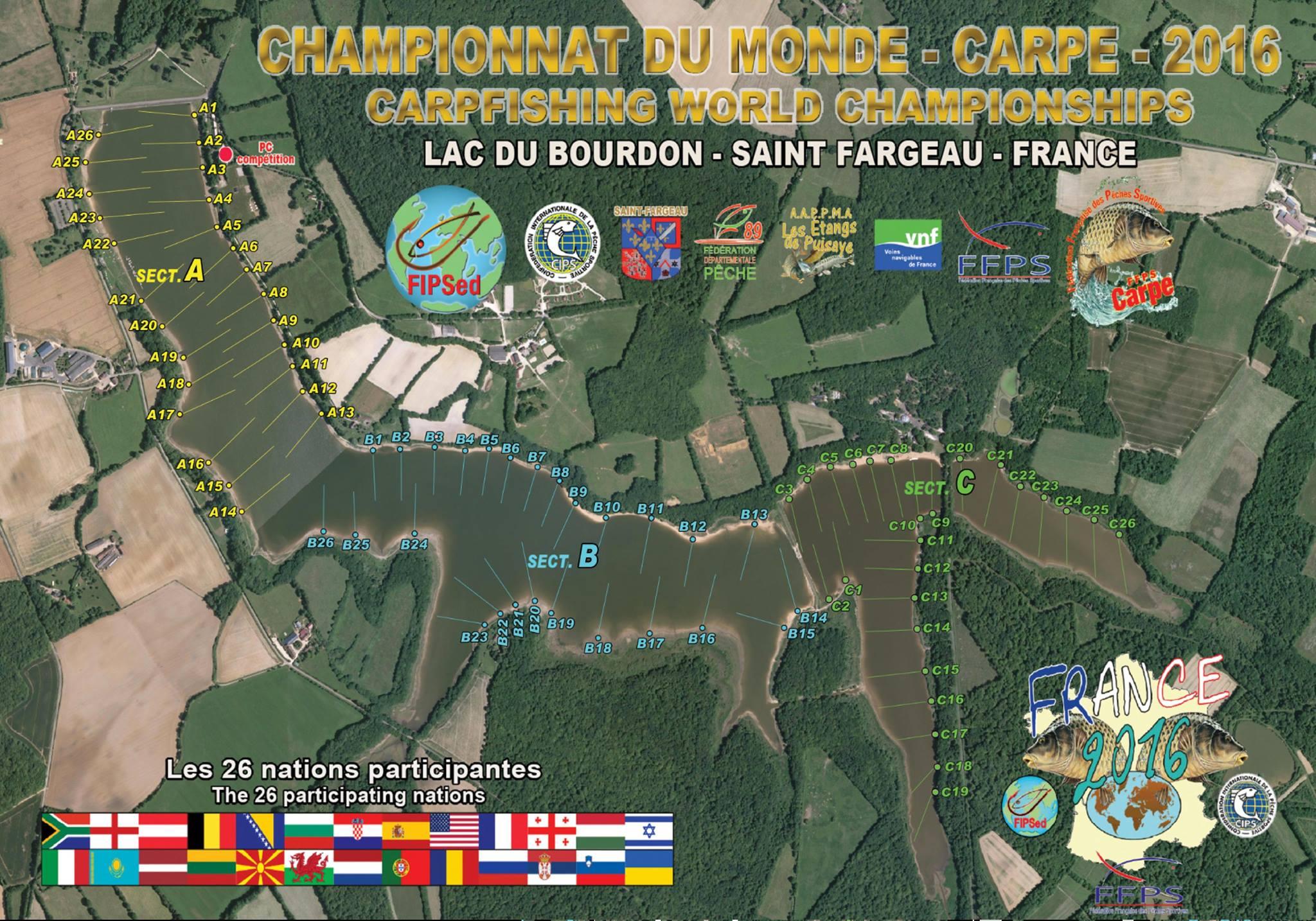 Tekmovalna trasa Lac du Bourdon